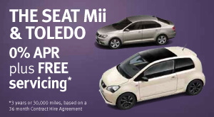 SEAT Toledo and Mii 0% APR