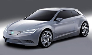 SEAT IBE front quarter view