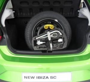 SEAT Ibiza spare wheel