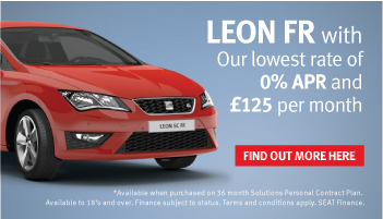Save up to £2085 and get 0% on new SEAT Leon FR and Cupra models