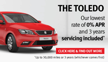 Pay £2,000 less for your SEAT Toledo with 0% APR finance and free servicing
