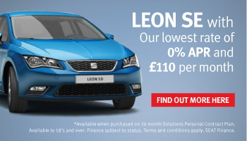 Save £2,085 and get 2.9% APR on new SEAT Leon models