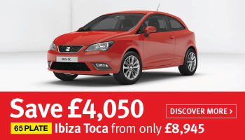 Save £4,050 on 65 plate Ibiza Toca models