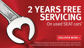 2 years free servicing on used SEAT cars
