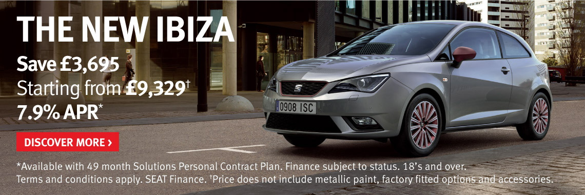 Save up to £3,695 on new SEAT Ibiza models