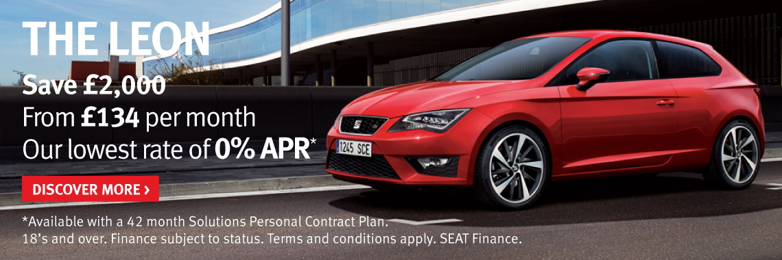 Pay £2,000 less and get 42 months 0% Personal Contract Plan on new Leon SE & FR models