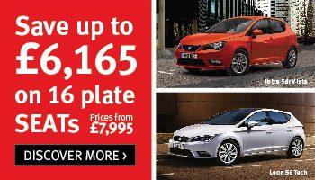 W Livingstone 16 plate SEAT car offer