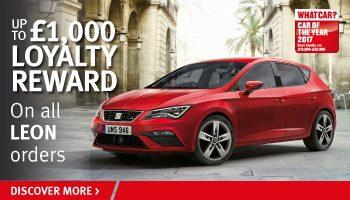 W Livingstone Ltd SEAT Leon reward offer