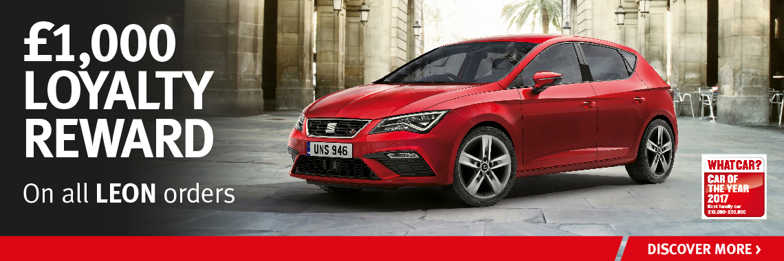 W Livingstone Ltd SEAT Leon Reward Offer