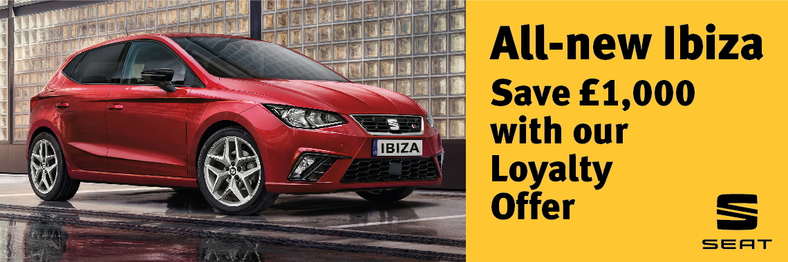 W Livingstone Ltd New SEAT Ibiza loyalty offer