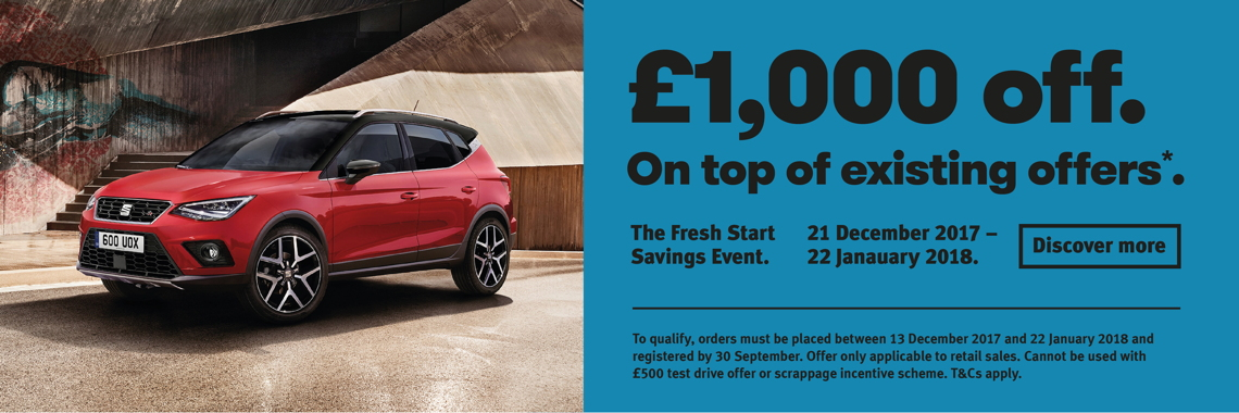 W Livingstone Ltd SEAT Arona offer
