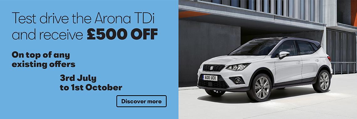 W Livingstone Ltd SEAT Arona test drive offer